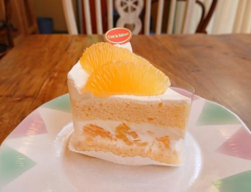 ジューシーオレンジのショートケーキ