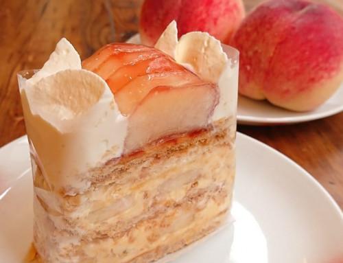桃のナポレオンパイ
