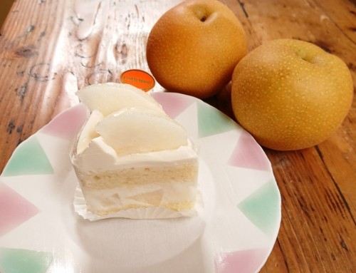 和梨のショートケーキ