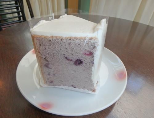 シフォンケーキ ブルーベリー