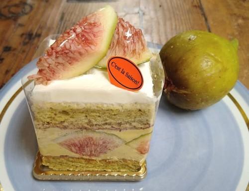 白いちじくのカスタードケーキ