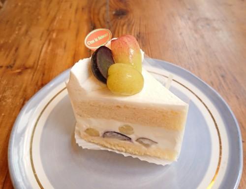 皮ごと食べると美味しいぶどうのショートケーキ